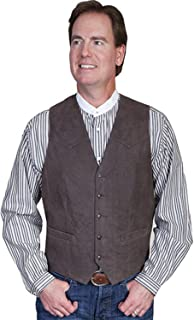 Scully Men's Lambskin Leather Western Vest Big and Tall - 3-63 X