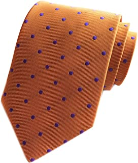 Mens Classic Polka Dot Ties Jacquard Woven for Business Wedding Party by Elfeves