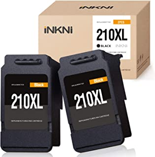 INKNI Remanufactured Ink Cartridge Replacement for Canon 210XL PG-210XL 210 XL for PIXMA IP2700 IP2702 MX330 MX340 MX350 MX360 MP230 MP240 MP250 MP270 MP280 MP480 MP490 MP495 Printer (Black, 2-Pack)