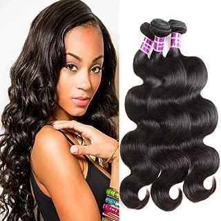 ZSF Hair Grade 8A Brazilian Virgin Hair Body Wave 4 Bundles 100% Unprocessed Virgin Human Hair Weave Extensions Natural Color 18
