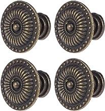 BESTOMZ 4 stuks vintage lade kast pull handvat knop (brons)