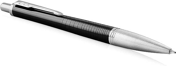 Parker Urban Ballpoint Pen, Premium Ebony Metal Chiselled with Medium Point Blue, 1931615