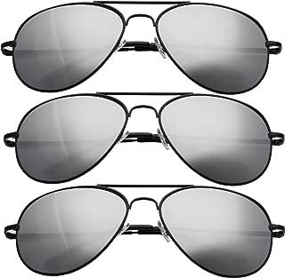grinderPUNCH Aviator Mirror Tear drop Sunglasses (3 PAIR)