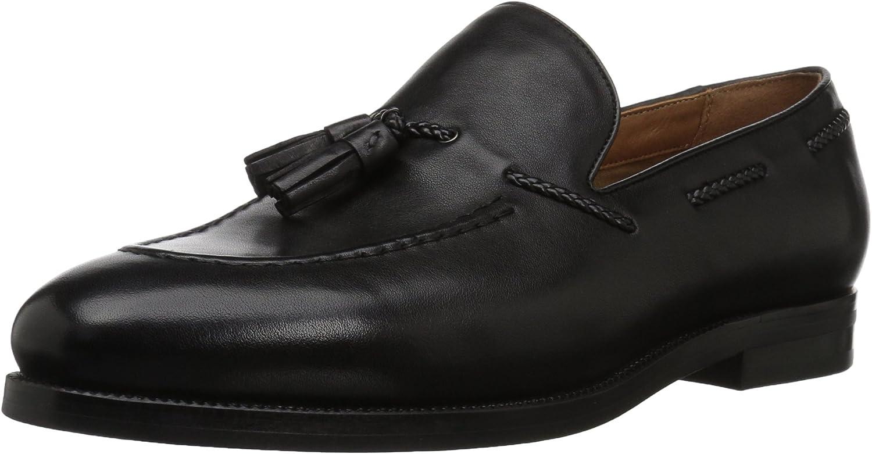 ALDO Men's Feodore Slip-On Loafer, Black Leather, 7 D US
