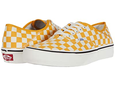 Vans Authentic SF ((Checkerboard) Cadmium Yellow/Marshmallow) Lace up casual Shoes