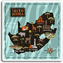 2 x 10cm South Africa African Map Vinyl Stickers - Sticker Laptop Luggage #19428 (10cm Wide)