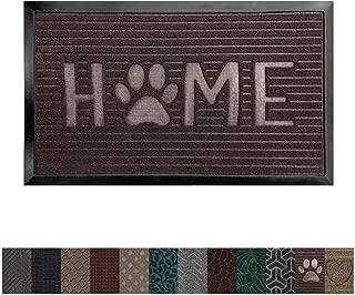 Gorilla Grip Original Durable Rubber Door Mat, 29 x 17, Heavy Duty Doormat, Indoor Outdoor, Waterproof, Easy Clean, Low-Profile Mats for Entry, Garage, Patio, High Traffic Areas, Dark Brown Home Paw