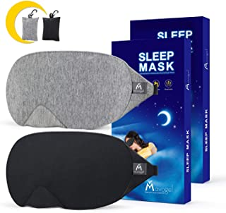 Mavogel Cotton Sleep Eye Mask - Updated Design Light Blocking Sleep Mask, Soft and Comfortable Eye Blindfold for Men Wome...