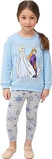 Disney Frozen Toddler Baby Girls Crew Neck Sweatshirt and Legging Set