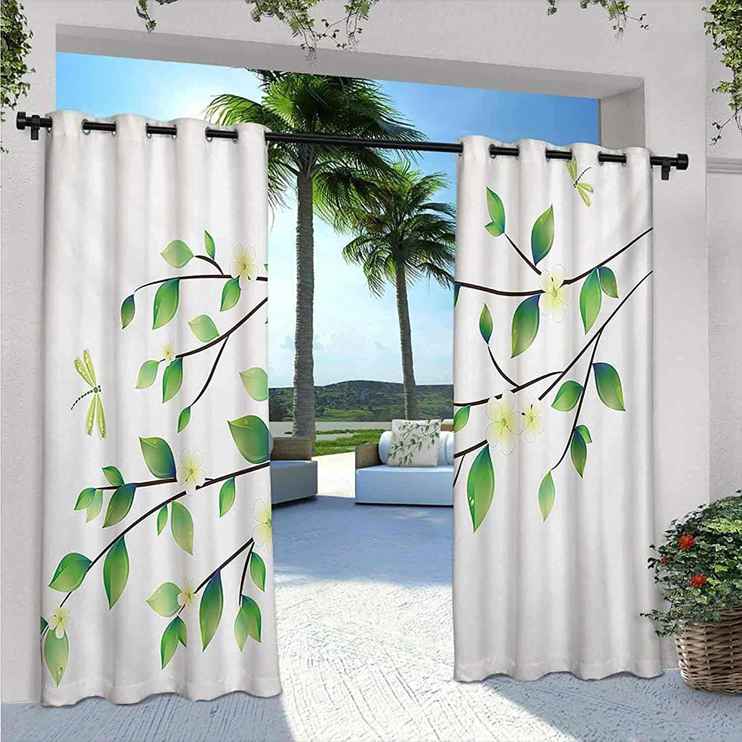 Dragonfly Outdoor Curtains for famous Patio Lit Leaves Waterproof with Industry No. 1