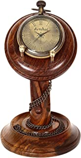 Artshai Pocket Watch Cum Table Clock with sheesham Wood Stand …