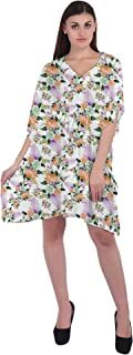 RADANYA Flower Women's Casual wear Cotton Kaftans Swimsuit Cover up Caftan Beach Short Dress