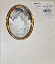 White Wedding Photo Album with Oval Opening on Cover- Holds 30 - 8x10 Photos