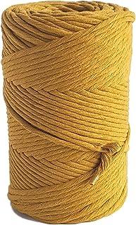 MB Cordas Macrame Cord 3mm Single Twist Macrame String 140m Soft Macrame Rope for Handmade Plant Hanger Wall Hanging Craft...