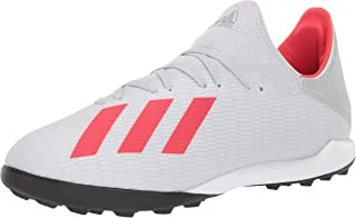 Adidas Men's X 19.3 Turf Soccer Shoe, Silver Metallic/hi-Res Red/White, 6.5 M US