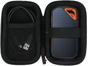 Khanka Duro Viaje Estuche Bolso Funda para SanDisk Extreme Pro Portable SSD 1TB/2TB/250GB/500GB (Funda para SanDisk Extreme Pro)