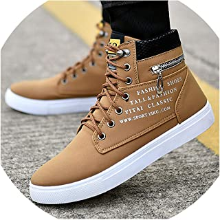 I'll NEVER BE HER Luxury Men Shoes Sneakers Faux Suede Big Size Casual Shoes Men Black High Top Lace Up Zip Mens Shoes Casual Fashion