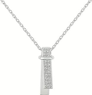 Necklace- 42cm Coffret Guy Laroche–925Sterling Silver White Cubic Zirconia–atv557az