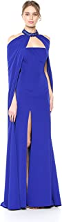 Mac Duggal Women's 2 Piece Rhinestone Embellished Cape and Gown