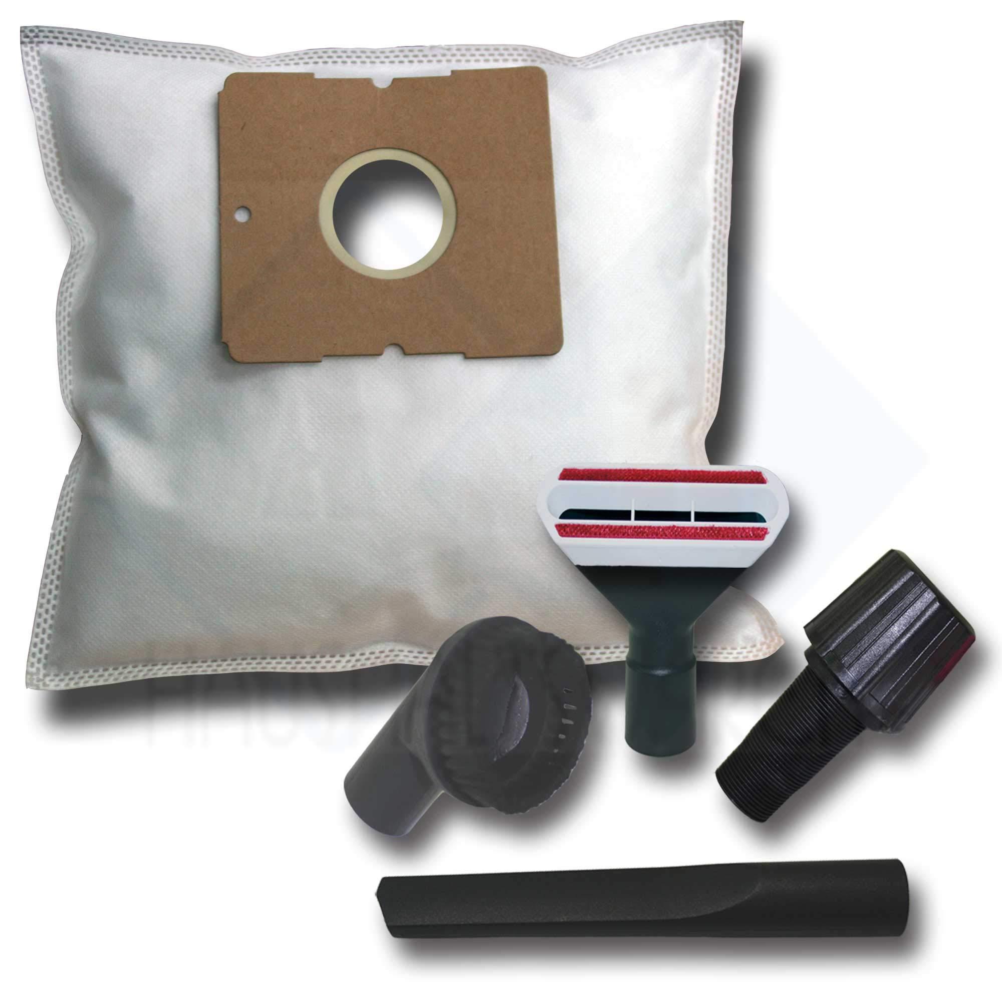 40 Bolsas de aspiradora + Juego de 4 boquillas para Solac A 303, 407, 501: Amazon.es: Hogar