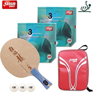 DHS Hand-Assembled Professional Table Tennis Rackets, Hurricane Long 5 Table Tennis Blade and Neo Hurricane 3 (Professional,Provincial) Ping Pong Rubber – ITTF Approved Tournament Racquets