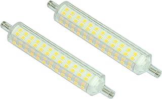 Pegaso - Juego de 2 bombillas LED R7S, 15 W, 1200 lúmenes, luz natural 4000 K, versión fina