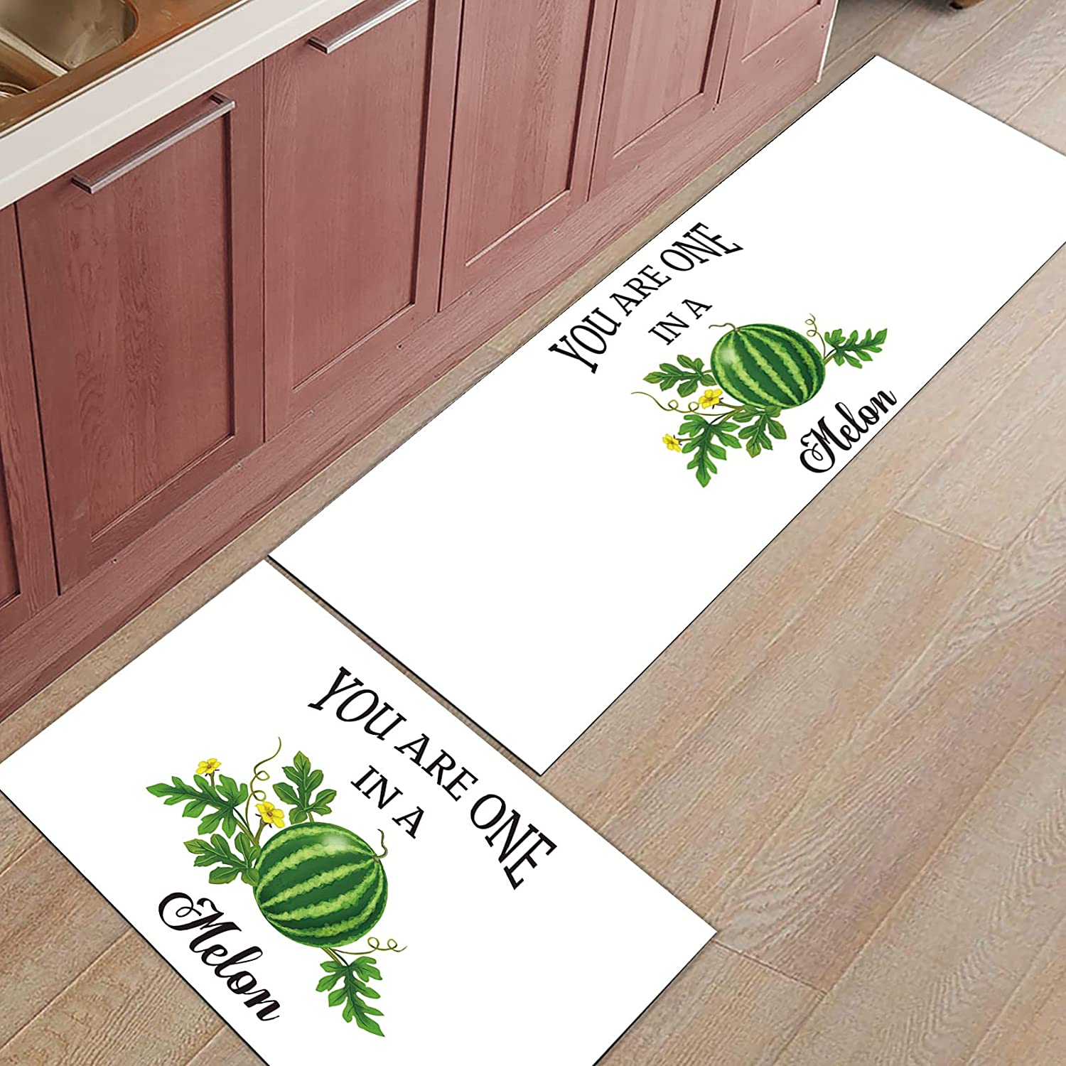 2 Pieces Kitchen Rug Set Non-Slip Rugs Throw Backing Mat Special New Orleans Mall sale item Doormat