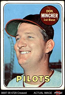 1969 Topps # 285 Don Mincher Seattle Pilots (Baseball Card) Dean's Cards 1.5 - FAIR Pilots