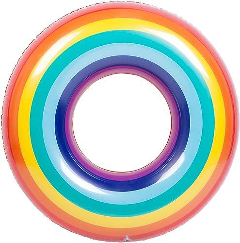 Sunny Life bunter Schwimmreifen in Regenbogen-Form