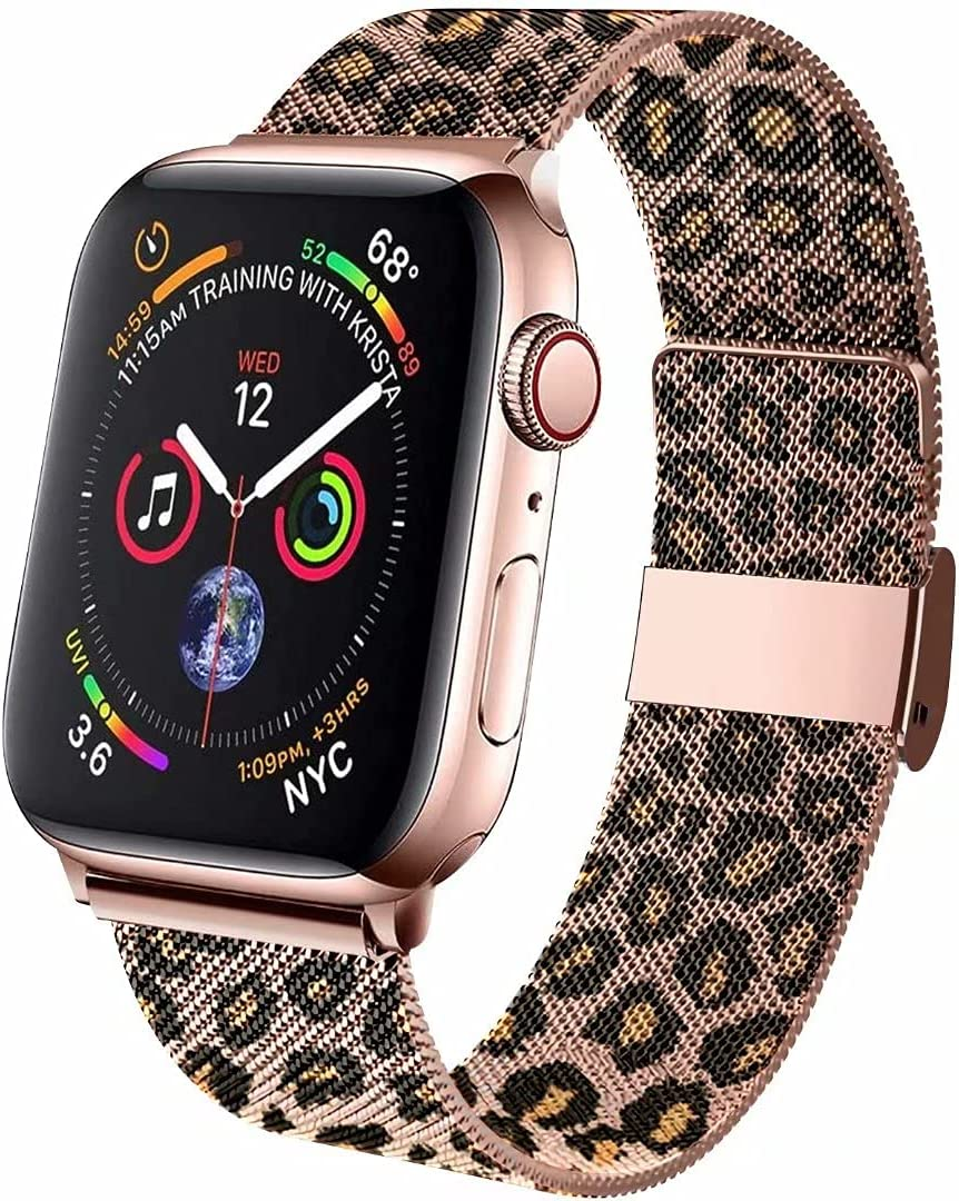ZSUOOP Bands Compatible with Apple Watch Bands milanese 38mm 40mm 42mm 44mm,Magnetic Stainless Steel Mesh Strap Replacement for iwatch Series 6/5/4/3/2/1/SE Women/Men