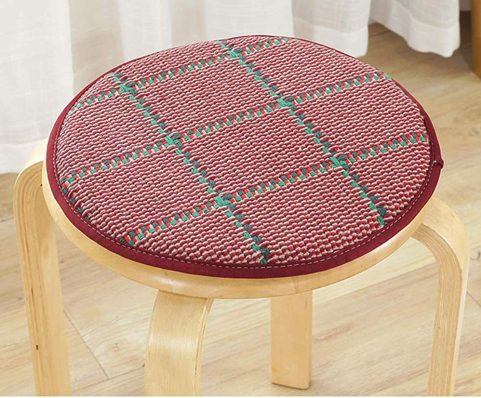 QTQHOME Seat Cushioning Round Flowers Pattern Anti Skidding Chair Cushion Family Pad Office Pad Car Pad Soft Comfortable Breathable Orange Red 2020in