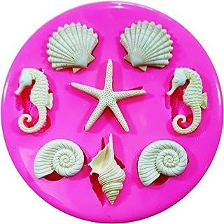 Costa de conchas de mar Estrella de mar y Seahorses molde de silicona para decoración de