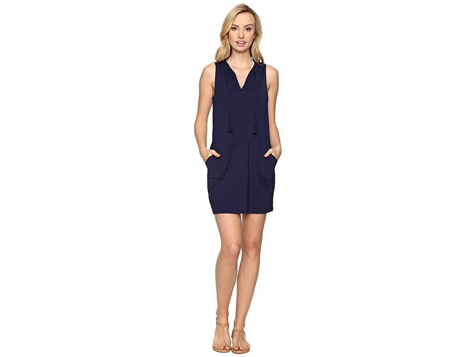Tommy Bahama - Tommy Bahama Pearl Split-Neck Swim Dress Cover-Up