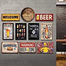 Kit 10 Placas Decorativas Bebidas Cervejas Frases