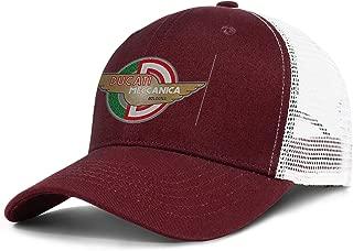 Ducati-Motorcycle-Logo- Unisex Mesh Trucker Cap Adjustable Snapback Beach Hat