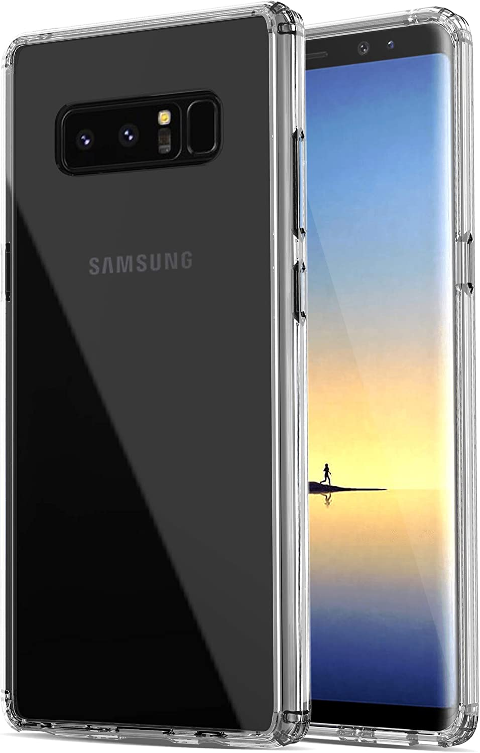 RANZ Galaxy Note 8 Case, Anti-Scratch Shockproof Series Clear Hard PC + TPU Bumper Protective Cover Case for Samsung Galaxy Note 8 - Crystal Clear