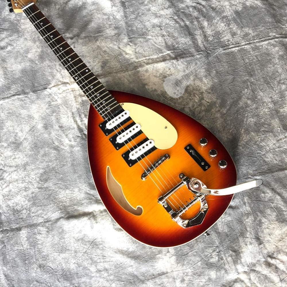 FATEGGS Guitarra eléctrica Guitarra Eléctrica Guitarra Guitarra Semi Hueca Cuerpo Trémolo Sistema Guitarra Cadena Acústico Acero Acústico Accesorios de Guitarra (Color : Guitar, Size : 39 Inches)