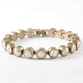 Touchstone Crystal by Swarovski Golden Shadow Oxidized Ice Bracelet