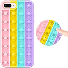 Fidget Toy Case for iPhone 8 Plus/iPhone 7 Plus, Stress Relief Anti-Anxiety Push Pop Bubble Silicone Rubber Protective Pho...