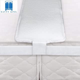 Savvy King Bed Bridge with Strap for Twin to King Converter - Hypoallergenic Mattress Extender, Ergonomic Memory Foam Filler Pad for Twin Beds, Mattresses and Bedding Accessories