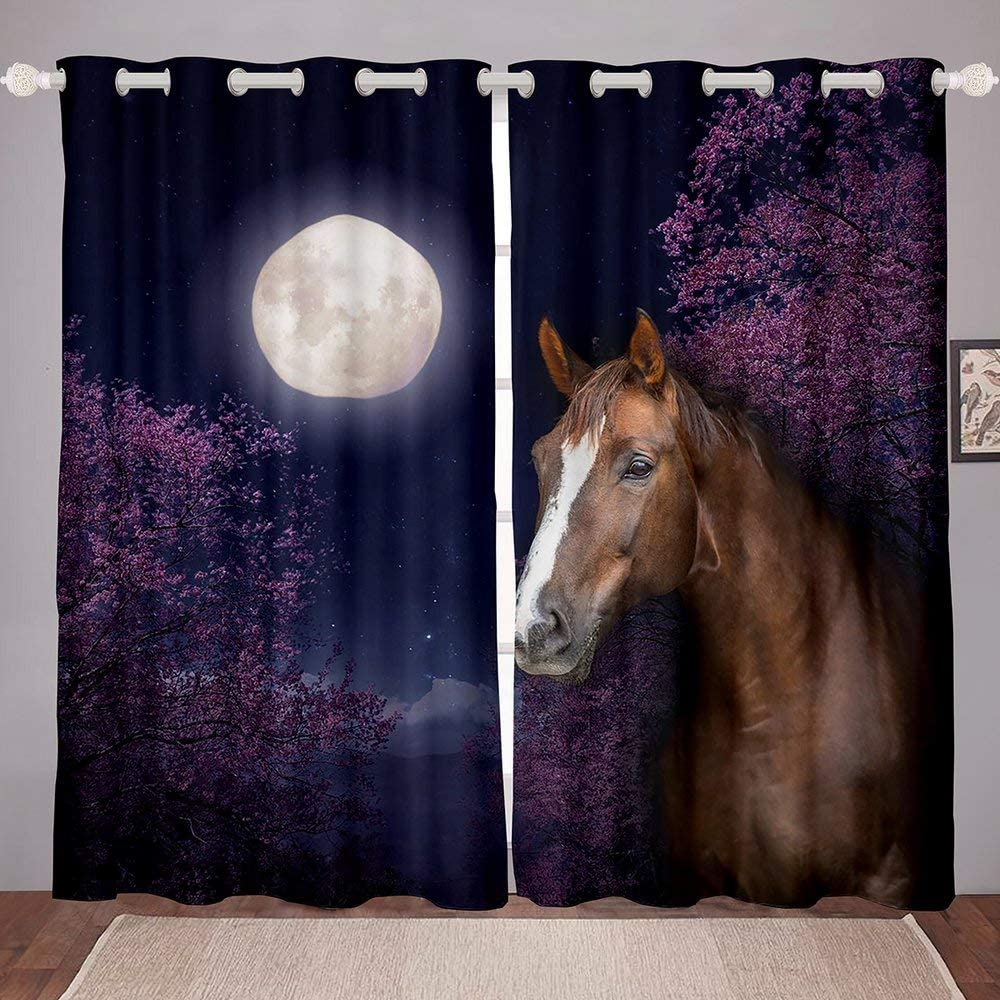 Erosebridal Manufacturer regenerated product Horse Window Curtains Moon Gifts Stars for Kids