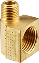 Eaton Weatherhead 402X6X2 Brass CA360 Inverted Flare Brass Fitting, 90 Degree Elbow, 1/8