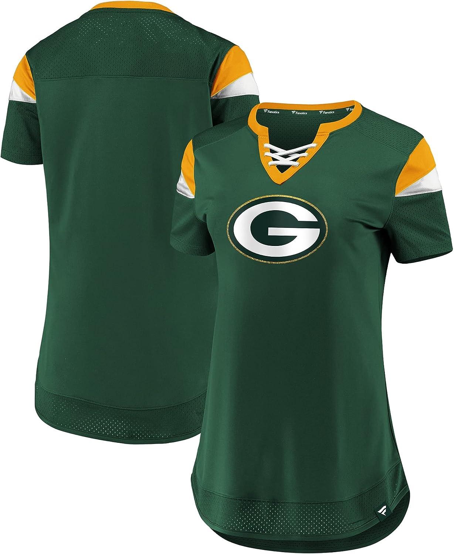 security Fanatics Women's Green Ranking TOP4 Bay Packers Draft Lace-Up T-Shir Me
