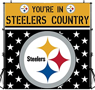 steelers party backdrop
