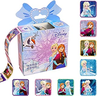 NEILDEN 200 Pcs Disney Frozen Kids Sticker in 10 Designs,1-1/2 Inch Self Adhesive Label Party Supplies Roll Stickers for Kids Party Favor and Teacher(Frozen)