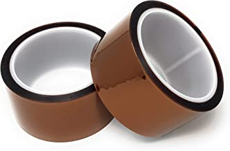 APT, Mutiple inch Width with 36 Yards Length(108 FT), 1 mil Thick Polyimide Adhesive Tape, high Temperature and Heat Tape, for Masking, Soldering, Electrical, 3D Printer. (2 Rolls 2'' in One Pack)