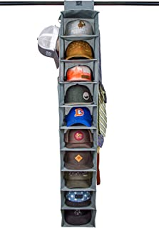 Dash Home Hat Rack 10 Shelf Hanging Closet Hat Organizer for Hat Storage - Keep Your Caps and Baseball Hats in Great Condition - Simple Hat Holder & Baseball Cap Organizer w/Tie & Belt Side Hooks