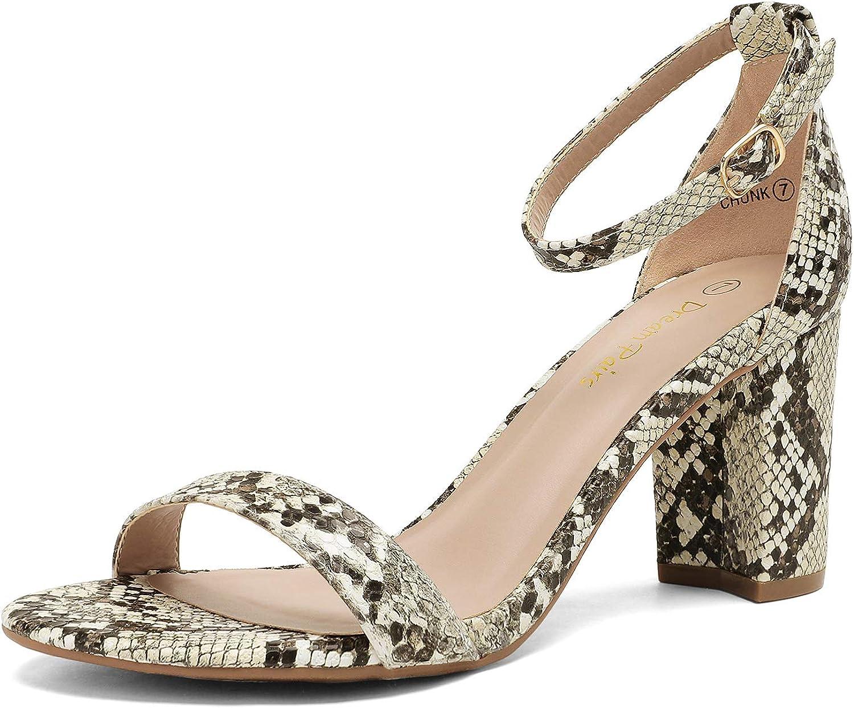 Columbus Mall DREAM PAIRS Women's Chunk Low Sandals Heel Raleigh Mall Pump