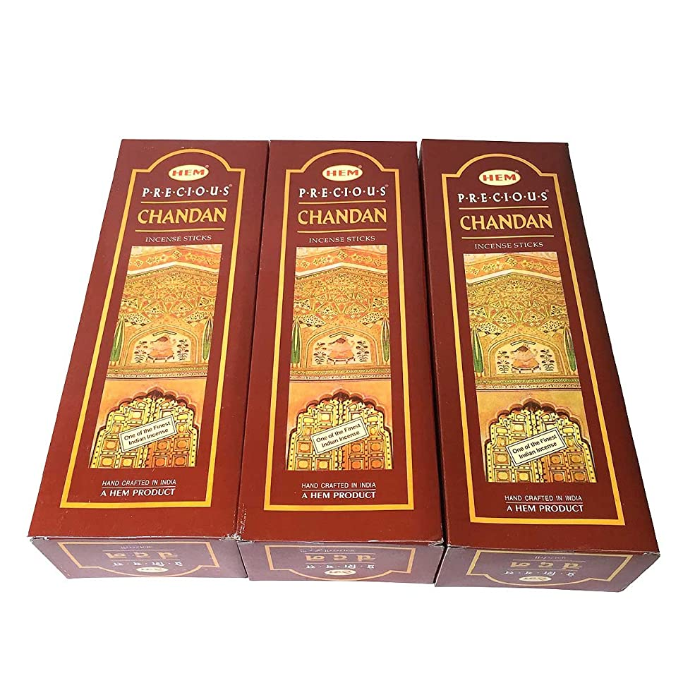 顕著ライン抜け目がないチャンダン香 スティック 3BOX(18箱) / HEM CHANDAN / インド香 お香 [並行輸入品]