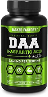 DAA D Aspartic Acid Supplement - Fortified with Astragin for Enhanced Absorption, Zero Artificial Fillers - 120 Veggie Cap...